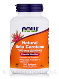 Natural Beta Carotene 25,000 IU - 180 Softgels