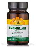 Natural Bromelain 500 mg - 30 Tablets