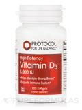 Vitamin D3 5000 IU (High Potency) 120 Softgels