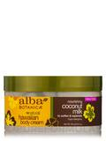 Natural Hawaiian Body Cream Nourishing Coconut Milk 6.5 oz (184 Grams)