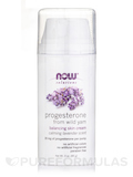 NOW® Solutions - Natural Progesterone Cream Lavender - 3 oz (85 Grams)