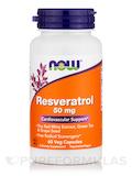 Natural Resveratrol 50 mg - 60 Veg Capsules
