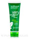 Natural Very Emollient Cream Shave Aloe Mint 8 oz (227 Grams)