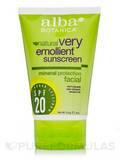 Natural Very Emollient Sunscreen Mineral Protection Facial SPF20 4 oz (113 Grams)