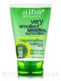Very Emollient™ Mineral Sunscreen SPF 30, Fragrance-Free - 4 oz (113 Grams)