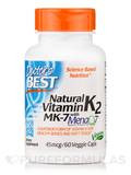 Natural Vitamin K2 MK-7 with MenaQ7® 45 mcg - 60 Veggie Capsules