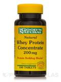 Natural Whey Protein Concentrate 200 mg 100 Tablets