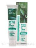 Natural Tea Tree Oil & Neem Toothpaste - 6.25 oz (176 Grams)