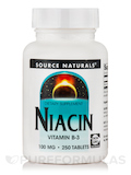 Niacin 100 mg - 250 Tablets