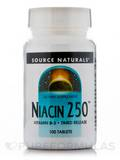Niacin 250 mg T/R - 100 Tablets