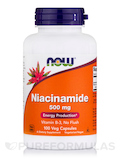 Niacinamide (Vitamin B-3) 500 mg 100 Capsules