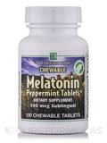 Chewable Melatonin 500 mcg, Peppermint - 100 Chewable Tablets
