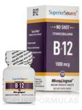 No Shot B12 1000 mcg (as Cyanocobalamin) - 100 MicroLingual® Tablets