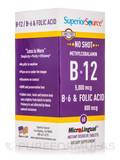No Shot Methylcobalamin B12 5000 mcg/B6/Folic Acid 60 Dissolvable Tablets