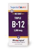 No Shot Triple B-12 3,000 mcg - 60 MicroLingual® Tablets