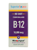 NO SHOT Vitamin B12 10,000 mcg (as Cyanocobalamin) - 60 MicroLingual® Tablets