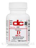 Non-Oily Dry Vitamin D - 100 Tablets