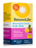Norwegian Gold® Kids DHA, Fruit Punch Flavor - 60 Chewable Softgels