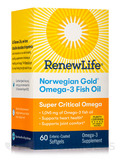 Norwegian Gold® Omega-3 Fish Oil Super Critical Omega, Natural Orange Flavor - 60 Enteric-Coated Sof