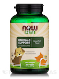 NOW® Pets - Omega-3 Support for Dogs/Cats, Great Fish Flavor - 180 Softgels