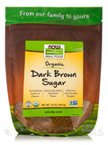 NOW Real Food® - Organic Dark Brown Sugar - 16 oz (454 Grams)