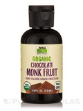 NOW Real Food® - Organic Monk Fruit, Chocolate - 1.8 fl. oz (53 ml)