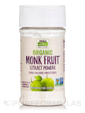 NOW Real Food® - Organic Monk Fruit Extract Powder Sweetener - 0.7 oz (19.85 Grams)