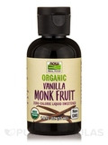 NOW Real Food® - Organic Monk Fruit, Vanilla - 1.8 fl. oz (53 ml)