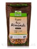 NOW Real Food® - Organic Raw Almonds, Unsalted - 12 oz (340 Grams)