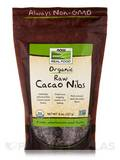 NOW® Real Food - Organic Raw Cacao Nibs - 8 oz (227 Grams)