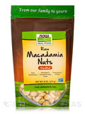 NOW Real Food® - Raw Macadamia Nuts, Unsalted - 8 oz (227 Grams)