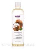 NOW® Solutions - Pure Fractionated Liquid Coconut Oil - 16 fl. oz (473 ml)