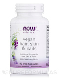 NOW® Solutions - Vegan Hair, Skin & Nails with 5000 mcg Biotin - 90 Veg Capsules