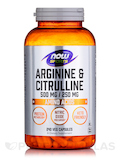 NOW® Sports - Arginine & Citrulline 500/250 - 240 Veg Capsules