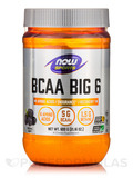 NOW® Sports - BCAA Big 6, Natural Grape Flavor - 21.16 oz (600 Grams)