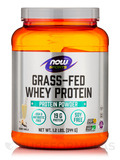 NOW® Sports - Grass-Fed Whey Protein Concentrate, Creamy Vanilla - 1.2 lbs (544 Grams)