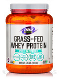 NOW® Sports - Grass-Fed Whey Protein Concentrate, Natural Unflavored - 1.2 lbs (544 Grams)