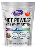 NOW® Sports - MCT Powder with Whey Protein, Chocolate Mocha - 1 lb (454 Grams)
