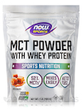 NOW® Sports - MCT Powder with Whey Protein, Salted Caramel - 1 lb (454 Grams)