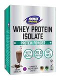 NOW® Sports - Whey Protein Isolate, Creamy Chocolate Flavor - 1 Box of 8 Packets