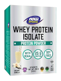 NOW® Sports - Whey Protein Isolate, Creamy Vanilla Flavor - 1 Box of 8 Packets