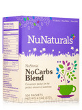NuStevia NoCarbs Blend - Box of 100 Packets (2.1 oz / 57 Grams)