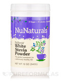 NuStevia White Stevia Powder (Jar) - 12 oz (340 Grams)