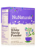 NuStevia White Stevia Powder Packets - Box of 100 Packets (3.25 oz / 100 Grams)