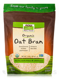 NOW® Real Food - Organic Oat Bran - 14 oz (397 Grams)