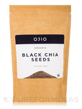 Ojio Raw Organic Black Chia Seeds - 8 oz (227 Grams)
