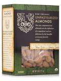 Ojio Raw Organic Unpasteurized Almonds - 8 oz (227 Grams)