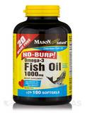 Omega-3 Fish Oil 1000 mg (No Burp!) - 180 Softgels