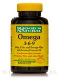 Omega 3-6-9 Flax, Fish, Borage 1000 mg - 120 Softgels