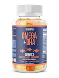Omega + DHA Gummies, Natural Lemon & Orange Flavors - 60 Vegetarian Gummies